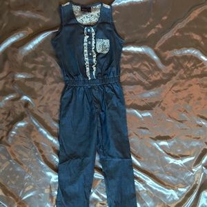 Other - Boutique Denim Pant Romper (for girls)